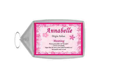 Annabelle Personalised Name Meaning Keyring