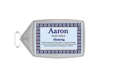 Aaron Personalised Name Meaning Keyring