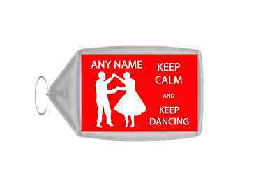 Keep Calm And Keep Dancing Personalised Large Keyring