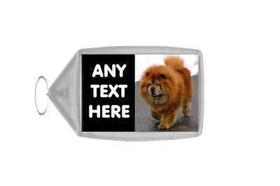 Chow Chow Personalised Keyring
