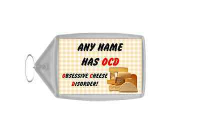 Funny Obsessive Disorder Cheese Yellow Personalised Large Keyring