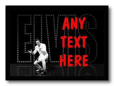 Black Elvis Presley Personalised Dinner Table Placemat