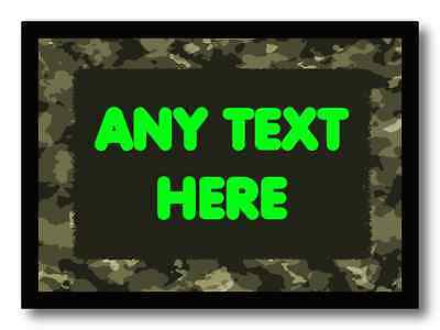 Army Camouflage Personalised Dinner Table Placemat