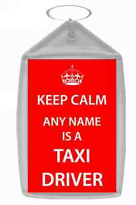 Taxi Driver Personalised Keep Calm Keyring