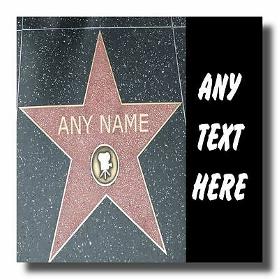 Hollywood Star Personalised Square Sign Plaque