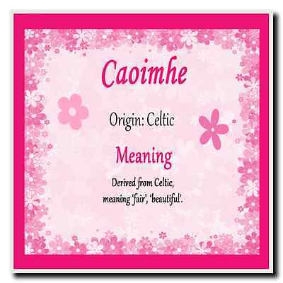Caoimhe Personalised Name Meaning Coaster