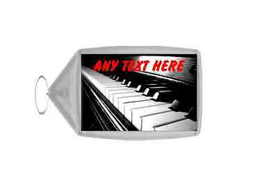 Piano Personalised Keyring