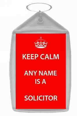 Solicitor Personalised Keep Calm Keyring