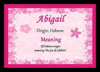 Abigail Personalised Name Meaning Placemat
