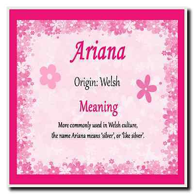 Ariana Personalised Name Meaning Coaster