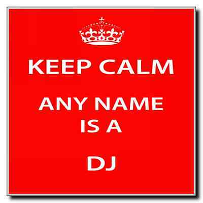 Dj Personalised Keep Calm Coaster