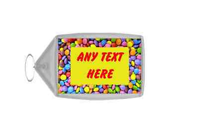 Smarties Personalised Keyring
