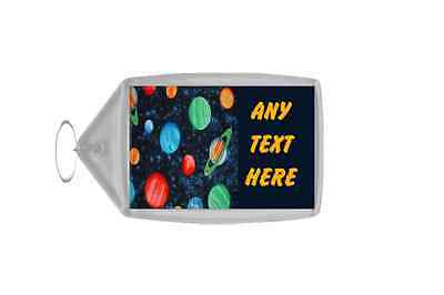 Planets Stars Space Personalised Keyring