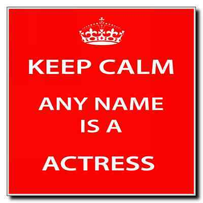 Actress Personalised Keep Calm Coaster