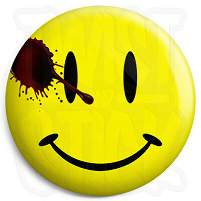 Watchmen Movie Smiley - Button Badge - 25mm Badges with Fridge Magnet Option