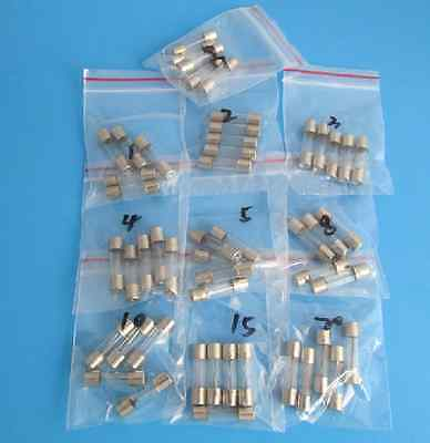 5X20MM Glass Tube Fuse Assortment Kit 250V 0.5A 99 UK