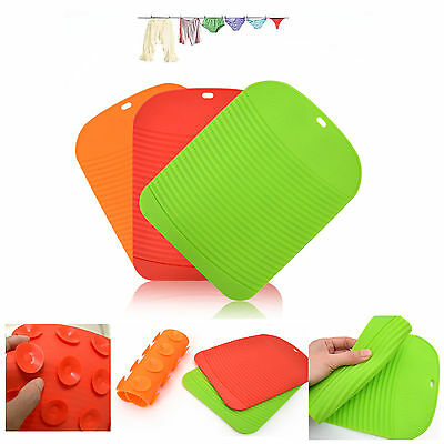 Korea Silicone Wash Board Laundry Kitchen Tools Clean No Skid Hand Launder Mat