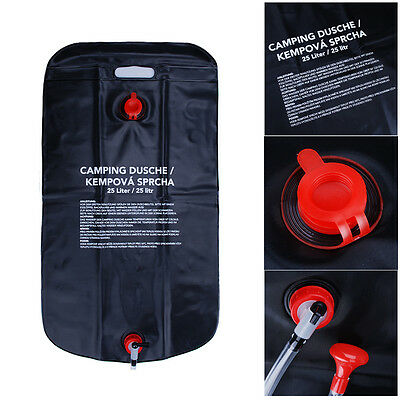 25L Outdoors Shower  Solar Portable  Water Heater Heating Bag For Camping Hiking