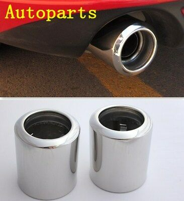 CHROME EXHAUST MUFFLER TAIL TIP PIPE For Mazda 3 Hatchback 2014 2015 2016