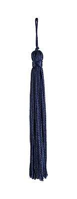 "Navy Blue 4"" Chainette Tassels Evening Sky [Set of 10]"
