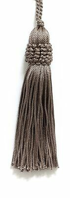 """Beige 4"""" Chainette Tassels Taupe [Set of 10]"""