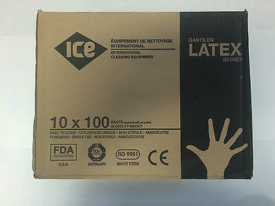 1000 Latex disposable powdered gloves large