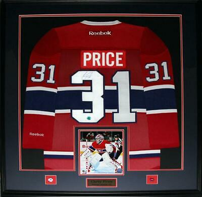 Carey Price Montreal Canadiens signed jersey frame