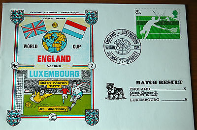 England v Luxembourg 1977 World Cup Official Football Cover - Wembley
