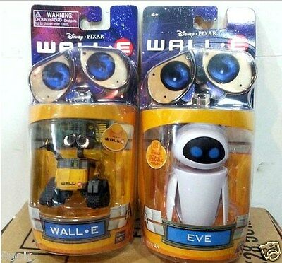 Disney Pixar Wall-E and Eee-Vah EVE Set of 2pcs Mini Action Figure New in Box