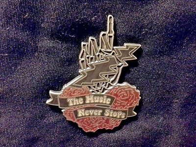 Grateful Dead The Music Never Stops Pin furthur tour roses festival NFA lot bolt