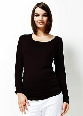 NEW - Trimester™ - It Must Be Fate Long Sleeve Tee in Black | Maternity Tops