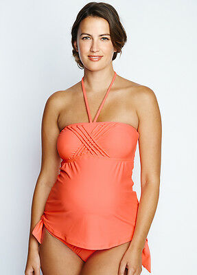 NEW - Maternal America - Eva Tankini in Peach - Maternity Swimsuit