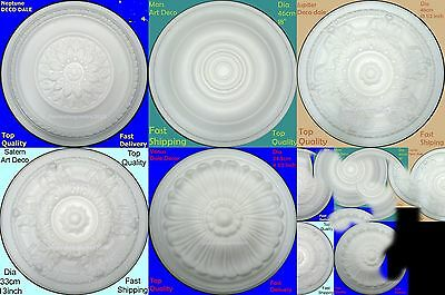 Polystyrene Ceiling Roses Lightweight Toughened Superb Quality 5 Styles
