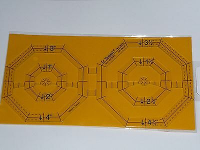 Le summit Octagon twin  template patchwork quilting ruler nr 8445