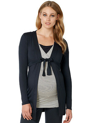 NEW - Noppies - Carline Jersey Cardigan in Dark Blue - Maternity Loungewear