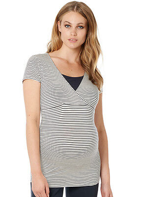NEW - Noppies - Dolores Nursing Top in Dark Blue Stripe - Maternity Top