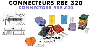 Prise Connecteur Rouge 24V Sbe Rbe 320 Rbe320 Sbe320 Batterie Chargeur Chariot