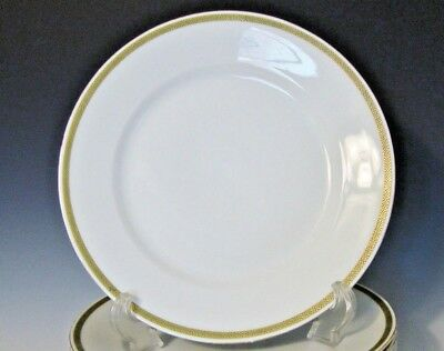 "Vtg. Bristol Austria Porcelain Dinner Plate - White/Green/Gilt - 9 5/8"" diameter"