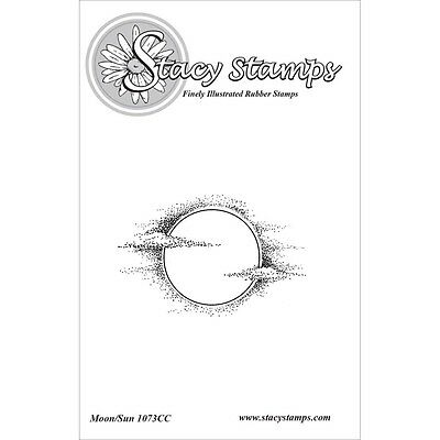 Stacy Stamps Cling Mounted Stamps 6.4cm x 3.8cm -Moon Sun. Brand New
