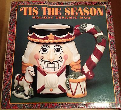 Tis' The Season 3D Holiday Ceramic Mugs Nutcracker