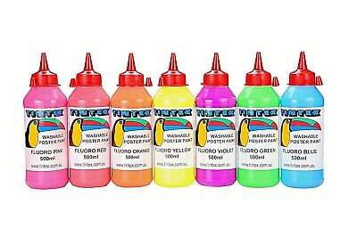 Tintex Washable Poster Paint 500mls - Standard, Fluoro and Metallics