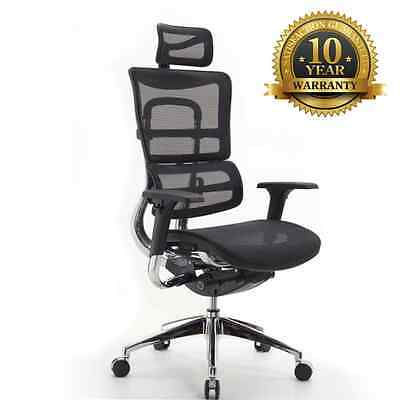 High Back Executive Office Chair Mesh Adjustable Rolling Wheels Ergonomic Kasa