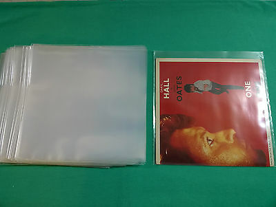 "100 x 7"" POLYTHENE VINYL RECORD SINGLES OUTER SLEEVES Plastic FREE P&P Worldwide"