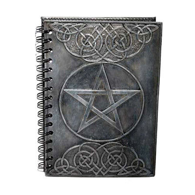 """Pentagram Celtic Knots Wicca Pagan 8.5"""" Refillable Spiral Notebook Journal Diary"""