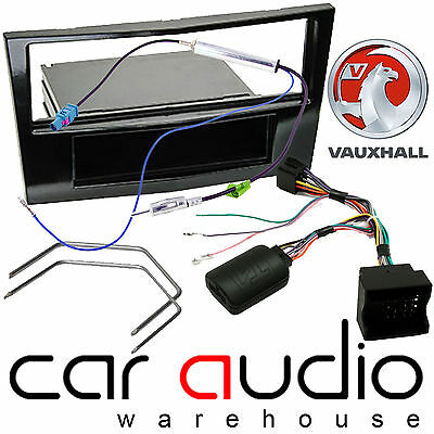 Vauxhall Astra H Car Stereo Piano Black Fascia Panel & Steering Wheel Interface