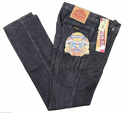 NEW VTG 90s DICKIES Branders JEANS Boys Black 12 Slim Fit Zip Fly Deadstock NOS