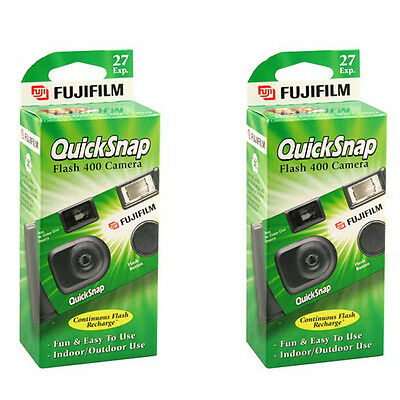 2 x Fujifilm Quicksnap Flash 400 Disposable Single Use 35mm Film Camera  2019