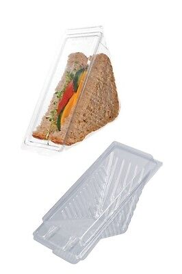 250 Large dispossable Sandwich Wedges / containers