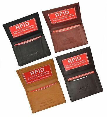 RFID Security Leather Expandable Credit Card ID Business Holder Wallet