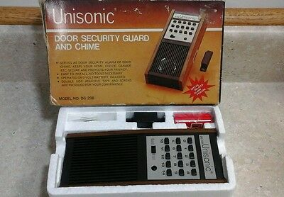Unisonic Door Security Guard and Chime,  Vintage NIB #DG-29B           T-4